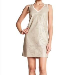 Tart | Rayna Faux Leather Perforated Dress Size S
